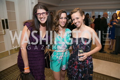 Nicole Goldin, Anastasia Dellacio, Caitlin Holliday.  Photo by Alfredo Flores. 5th Annual Our Voices Celebrating Diversity in Media reception to kick off White House Correspondents Weekend festivities. Hay Adams Hotel. May 2, 2014