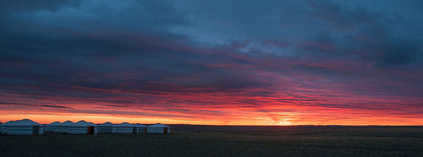 Sunrise on our last morning in the Gobi.