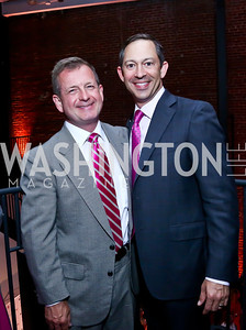 Jim Schleckser, Title Sponsor Barry Glassman. Photo by Tony Powell. 2014 Newsbabes Bash for Breast Cancer. Powerhouse. June 11, 2014