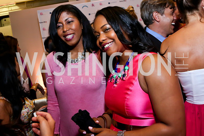 Kyani Dennis, Tashia Senn. Photo by Tony Powell. 2014 Newsbabes Bash for Breast Cancer. Powerhouse. June 11, 2014
