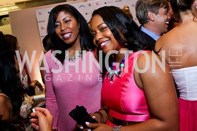 Kyani Dennis, Tashia Senn. Photo by Tony Powell. 2014 Newsbabes Bash for Breast Cancer. Powerhouse. June 11, 2014