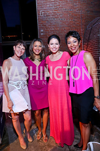 Hillary Howard, Lesli Foster, Angie Goff, Andrea Roane. Photo by Tony Powell. 2014 Newsbabes Bash for Breast Cancer. Powerhouse. June 11, 2014