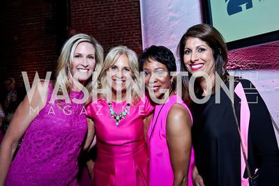 Laura Evans, Dr. Jill Biden, Andrea Roane, Monika Samtani. Photo by Tony Powell. 2014 Newsbabes Bash for Breast Cancer. Powerhouse. June 11, 2014