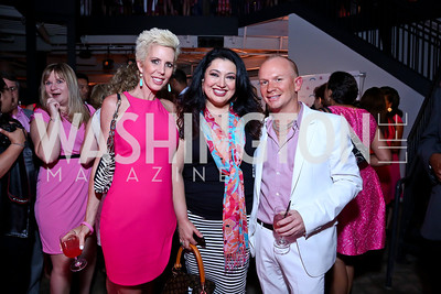 Michelle Schoenfeld, Alex Naini, Hunter Charles. Photo by Tony Powell. 2014 Newsbabes Bash for Breast Cancer. Powerhouse. June 11, 2014