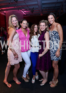 Ashley Chang, Fran Holuba, Anastasia Dellaccio, Christie Edwards, Kate Michael. Photo by Tony Powell. 2014 Newsbabes Bash for Breast Cancer. Powerhouse. June 11, 2014