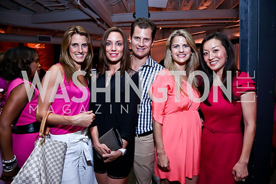 Vanessa Meccarielli, Kristin and John Cecchi, Callie Nierenberg, Julie Lee. Photo by Tony Powell. 2014 Newsbabes Bash for Breast Cancer. Powerhouse. June 11, 2014