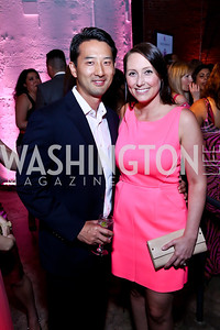 Jason Yoo, Heather Guay. Photo by Tony Powell. 2014 Newsbabes Bash for Breast Cancer. Powerhouse. June 11, 2014