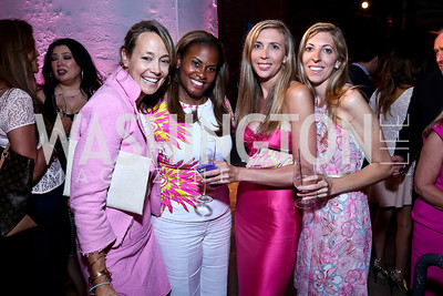 Mary Noone, Lynne Lightfoote, Susan Tanis, Mary Skorny. Photo by Tony Powell. 2014 Newsbabes Bash for Breast Cancer. Powerhouse. June 11, 2014