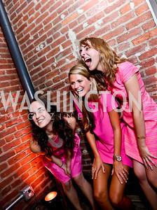 Janice Freeman, Mary Redmond, Ilana Moreno. Photo by Tony Powell. 2014 Newsbabes Bash for Breast Cancer. Powerhouse. June 11, 2014