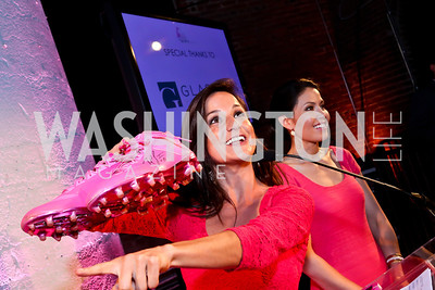 Dianna Russini, Angie Goff. Photo by Tony Powell. 2014 Newsbabes Bash for Breast Cancer. Powerhouse. June 11, 2014