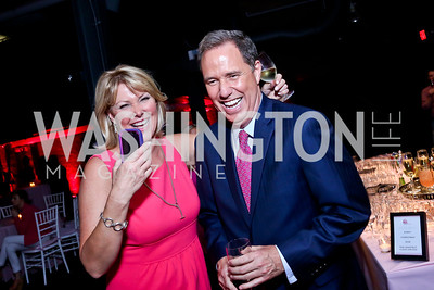 News4's Wendy Rieger and Jim Handly. Photo by Tony Powell. 2014 Newsbabes Bash for Breast Cancer. Powerhouse. June 11, 2014