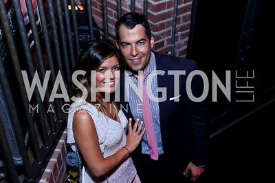 Sara Azani, Arash Shirazi. Photo by Tony Powell. 2014 Newsbabes Bash for Breast Cancer. Powerhouse. June 11, 2014