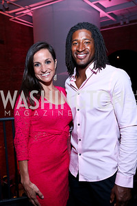 News4 Sports Anchor Dianna Russini, Redskins Wide Receiver Andre Roberts. Photo by Tony Powell. 2014 Newsbabes Bash for Breast Cancer. Powerhouse. June 11, 2014