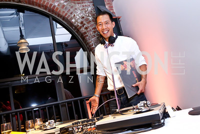 DJ Ben Chang. Photo by Tony Powell. 2014 Newsbabes Bash for Breast Cancer. Powerhouse. June 11, 2014