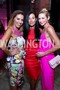 Lily Talakoub, Silvia Karagounis, Angie Diba. Photo by Tony Powell. 2014 Newsbabes Bash for Breast Cancer. Powerhouse. June 11, 2014