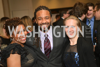 Courtney Cochran, Juan McCullum, Elizabeth Darnall, Washington Press Club Foundation hosts the 70th Annual Congressional Dinner.  Mandarin Oriental Hotel, February 5, 2014.  Photo by Ben Droz.