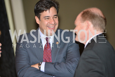 Rep. Raul Labrador, Senator Chris Coons, Washington Press Club Foundation hosts the 70th Annual Congressional Dinner.  Mandarin Oriental Hotel, February 5, 2014.  Photo by Ben Droz.
