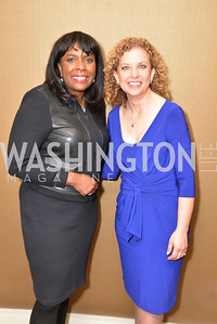 Rep. Terri Sewell, Rep. Debbie Wasserman Schultz, Washington Press Club Foundation hosts the 70th Annual Congressional Dinner.  Mandarin Oriental Hotel, February 5, 2014.  Photo by Ben Droz.