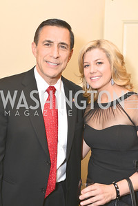 Rep. Darrell Issa, Brianna Keilar, Washington Press Club Foundation hosts the 70th Annual Congressional Dinner.  Mandarin Oriental Hotel, February 5, 2014.  Photo by Ben Droz.