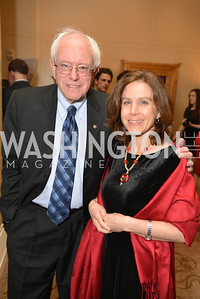 Sen. Bernie Sanders, Nicole Gaudiano, Washington Press Club Foundation hosts the 70th Annual Congressional Dinner.  Mandarin Oriental Hotel, February 5, 2014.  Photo by Ben Droz.