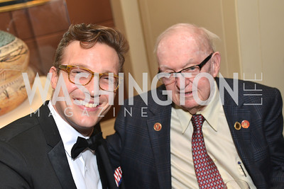 Benny Johnson, Rep. Howard Coble, Washington Press Club Foundation hosts the 70th Annual Congressional Dinner.  Mandarin Oriental Hotel, February 5, 2014.  Photo by Ben Droz.