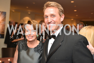 Rep. Nancy Pelosi, Sen. Jeff Flake, Washington Press Club Foundation hosts the 70th Annual Congressional Dinner.  Mandarin Oriental Hotel, February 5, 2014.  Photo by Ben Droz.