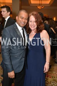 Mantill Williams, Joanne Williams, Washington Press Club Foundation hosts the 70th Annual Congressional Dinner.  Mandarin Oriental Hotel, February 5, 2014.  Photo by Ben Droz.