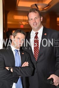 Rep. Adam Kinzinger (R-IL), Rep. Jon Runyan (R-NJ) Washington Press Club Foundation hosts the 70th Annual Congressional Dinner.  Mandarin Oriental Hotel, February 5, 2014.  Photo by Ben Droz.