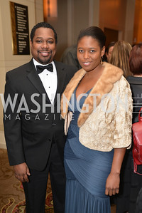 Charles Small, Jade Floyd, Washington Press Club Foundation hosts the 70th Annual Congressional Dinner.  Mandarin Oriental Hotel, February 5, 2014.  Photo by Ben Droz.