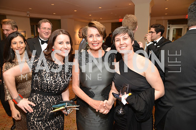 Christina Bellantoni, Rep. Nancy Pelosi, Jennifer Bendery, Washington Press Club Foundation hosts the 70th Annual Congressional Dinner.  Mandarin Oriental Hotel, February 5, 2014.  Photo by Ben Droz.