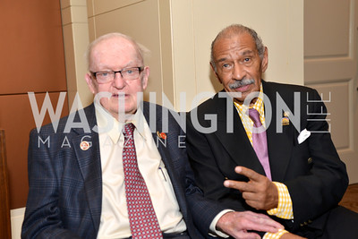 Rep. Howard Coble, Rep. John Conyers, Washington Press Club Foundation hosts the 70th Annual Congressional Dinner.  Mandarin Oriental Hotel, February 5, 2014.  Photo by Ben Droz.