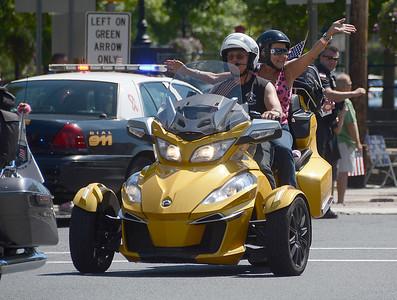 9/11 motorcycle ride through Highstown NJ