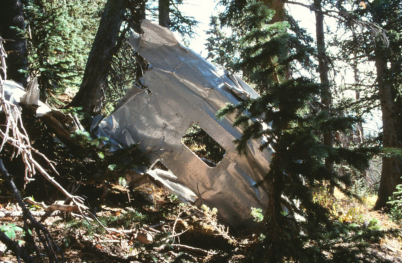 This piece of fuselage structure was easily identifiable with it's two stacked windows. (1991)