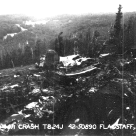 The lack of shadows in these crash scene photos suggests that the weather was still cloudy when they were taken by the Army accident investigators.