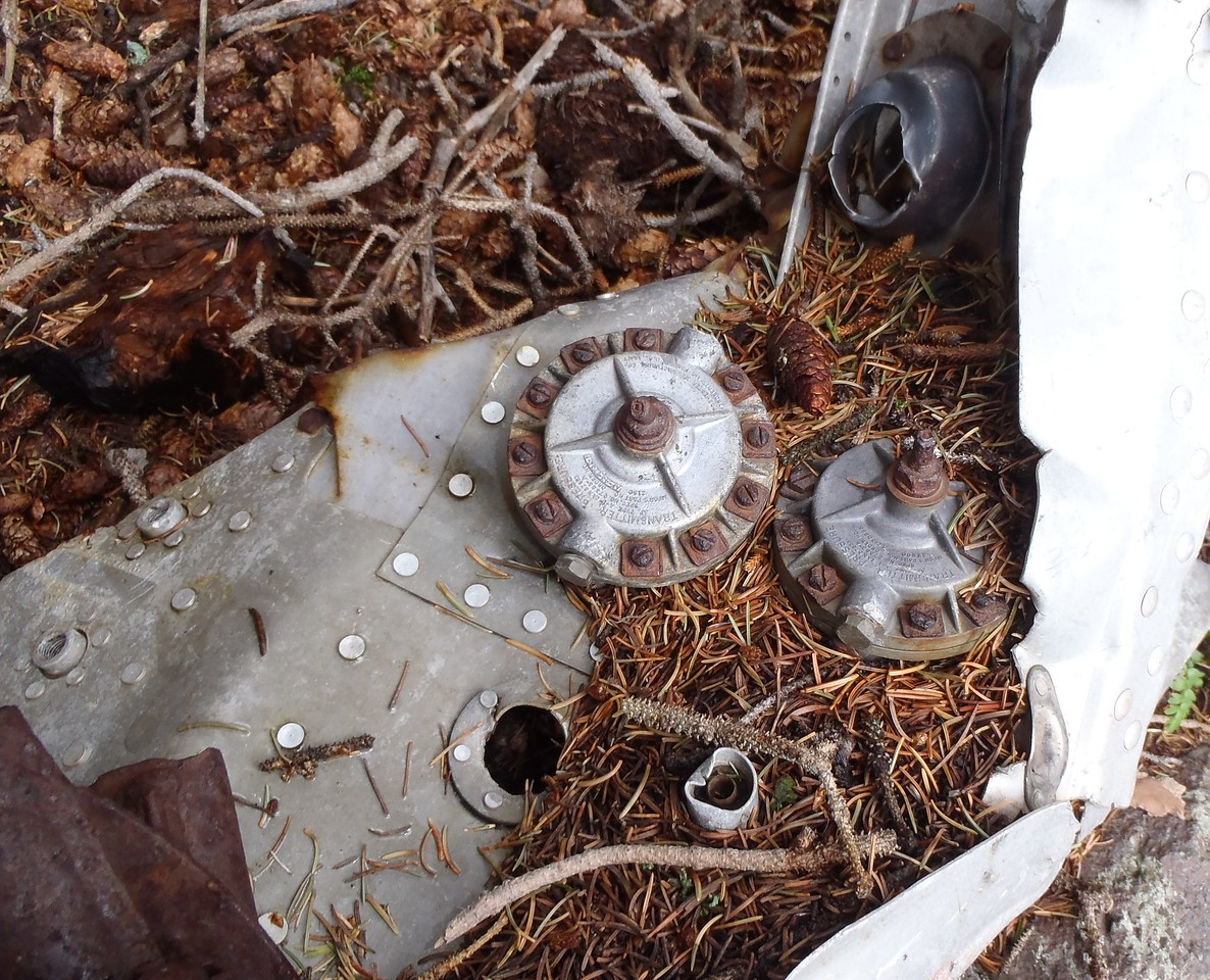 These two Pressure Transmitters were located within this engine cowl fragment.