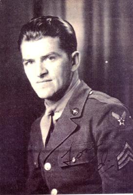 "Sgt. Ed Sikora just a few days before his final flight.  <a href=""http://www.aircraftarchaeology.com"">http://www.aircraftarchaeology.com</a>"
