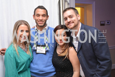 Daniela Vilela, Brandon Golatt, Dianne Beltran, Tim Yowpa, 9th Annual, Chance for Life, Poker Tournament, City Tavern Club, Saturday, February 22, 2014.  Photo by Ben Droz.
