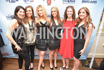 Shirin Nazemzadeh, Meghan Schulte, Sheena Cole, Amira Ward, Jamie Moffet, Katelyn Gimbel, 9th Annual, Chance for Life, Poker Tournament, City Tavern Club, Saturday, February 22, 2014.  Photo by Ben Droz.