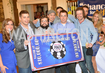 Winners of the 9th Annual, Chance for Life, Poker Tournament, City Tavern Club, Saturday, February 22, 2014.  Photo by Ben Droz.