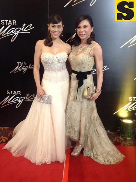Cristalle and Dra  Vicki Belo both in Monique Lhuillier