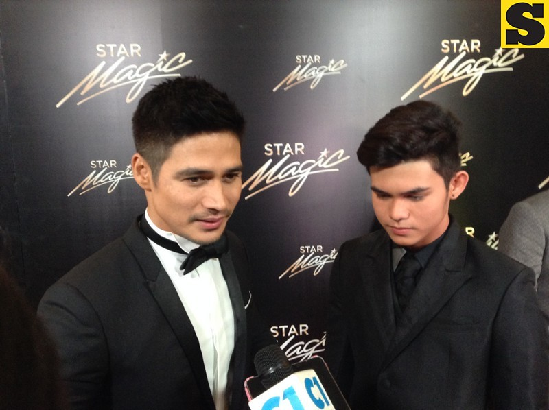 Piolo Pascual with son Inigo