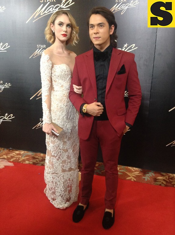 Jake Cuenca with girlfriend Sara Grace Kelly