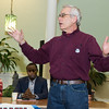 "Ed Goldman, of <a href=""https://www.facebook.com/fortgreenepeace"" target=""blank""><b><i>Fort Greene Peace,</i></b></a>, chaired the meeting."