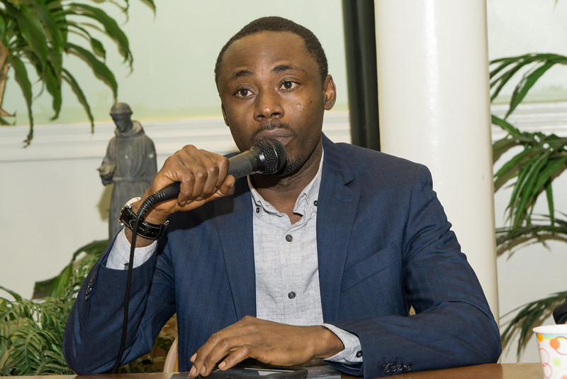 """<b>Audu Kadiri</b>, a spokesperson for Nigerian refugees, and asylum seeker and community organizer, spoke on behalf of <a href=""""http://www.africans.us/"""" target=""""blank""""> <b><i>African Communities Together</i></b></a>. Kadiri battled authorities in that country that unleashed a deadly repression of LGBT people."""