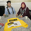 "Information tables were set up to offer information by groups working to help refugees. These are the good folks from <a href=""http://www.amnestyusa.org/"" target=""blank""><b>Amnesty International, USA.</b></a>"