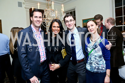 David Rudd, Deepti Choubey, Artur Orkisz, Riccarda Torriani. Photo by Tony Powell. A Night of Arctic Cool. Norwegian Ambassador's Residence. March 17, 2014