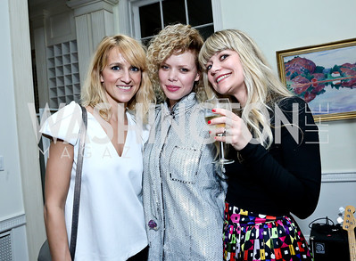 Linda Wickmann, Maya Vik, Kine B Hartz. Photo by Tony Powell. A Night of Arctic Cool. Norwegian Ambassador's Residence. March 17, 2014