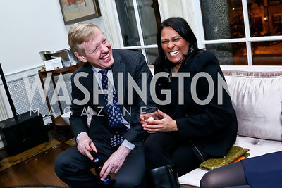 Norwegian Ambassador Kåre Aas, Deepti Choubey. Photo by Tony Powell. A Night of Arctic Cool. Norwegian Ambassador's Residence. March 17, 2014