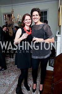 Christiane West, Amanda Bowker. Photo by Tony Powell. A Night of Arctic Cool. Norwegian Ambassador's Residence. March 17, 2014