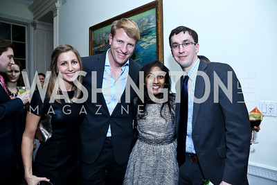 Emily Jansen, Mark Vlasic, Krishanti Vignarajah, Artur Orkisz. Photo by Tony Powell. A Night of Arctic Cool. Norwegian Ambassador's Residence. March 17, 2014